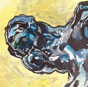 Study of Rodin's 'Meditation' (Detail)